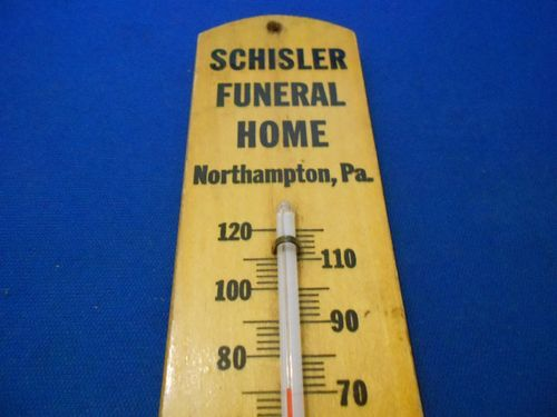 Schisler Funeral Home USA Vintage thermometer