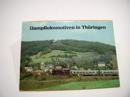 Postcards set of steam locomotives in Thuringia