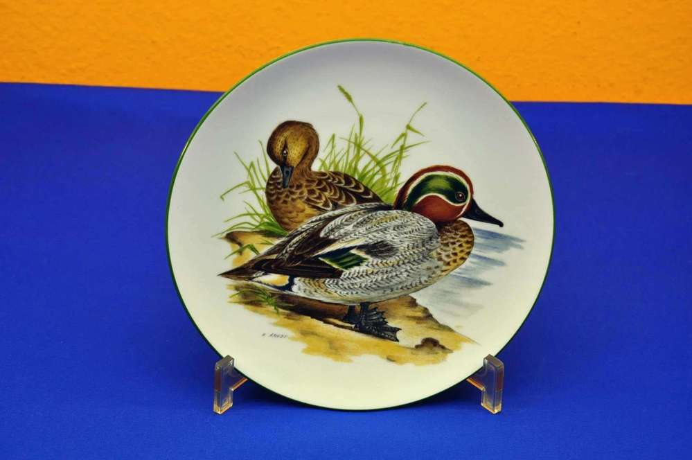 KPM collection plate animals of porcelain duck No  3
