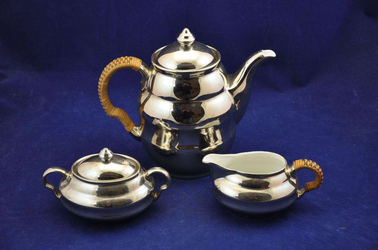 Art deco wmf kaffeeset teeset versilbert kaufen bei kusera for Art deco online shop