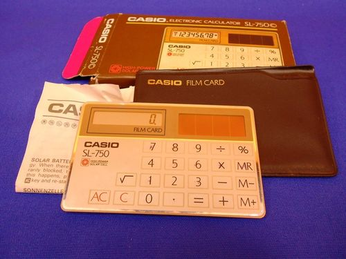 Casio Film Card Elctronic Calulator SL-750