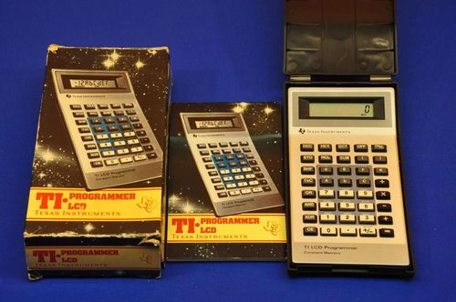 Pocket calculator TI Programmer LCD + instructions 1982