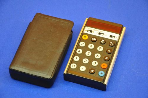 Pocket calculator Triumph 81 with pocket red LED