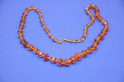 Ambroid amber necklace 69 cm long