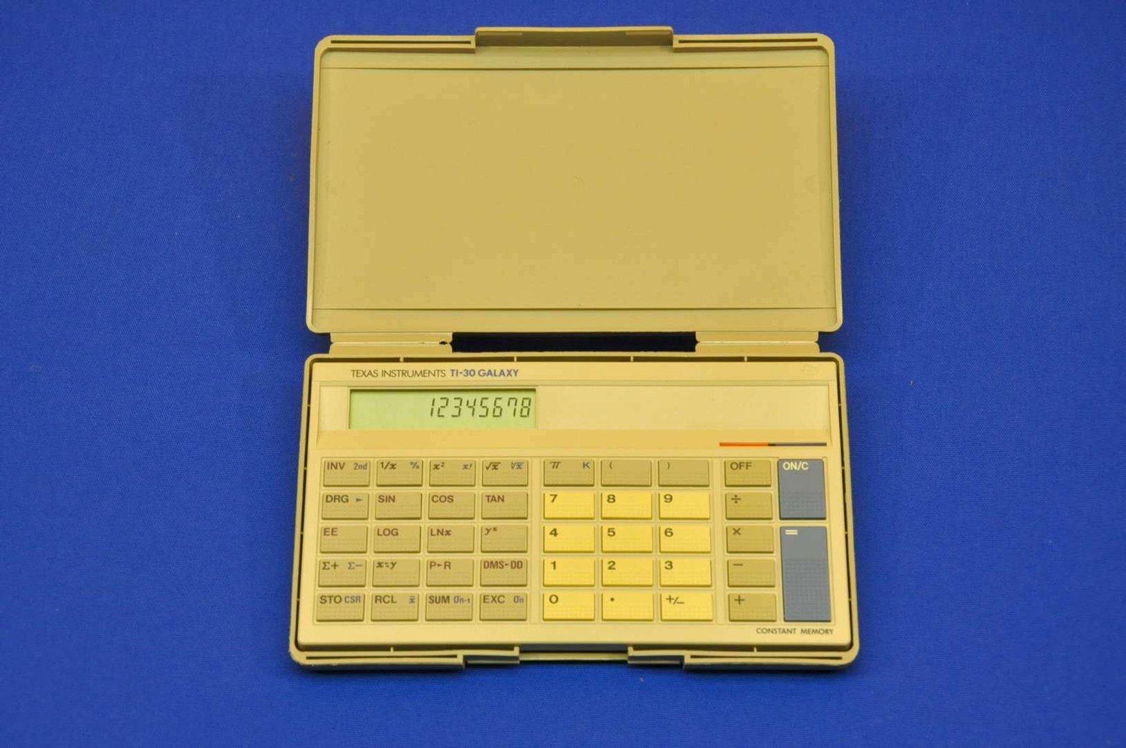 Texas Instruments TI-30 Galaxy Calculator with box