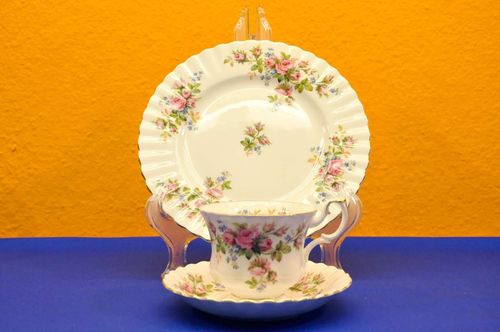 Kaffeegedeck 3teilig Royal Albert Moss Rose