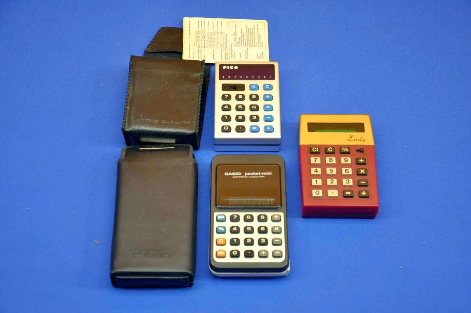 3 pocket calculator lady casio pocket mini pico pa 80n kusera