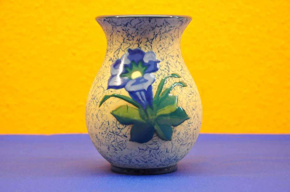 Art Deco Vase Amphora Pottery With Edelweiss At Shop Kusera