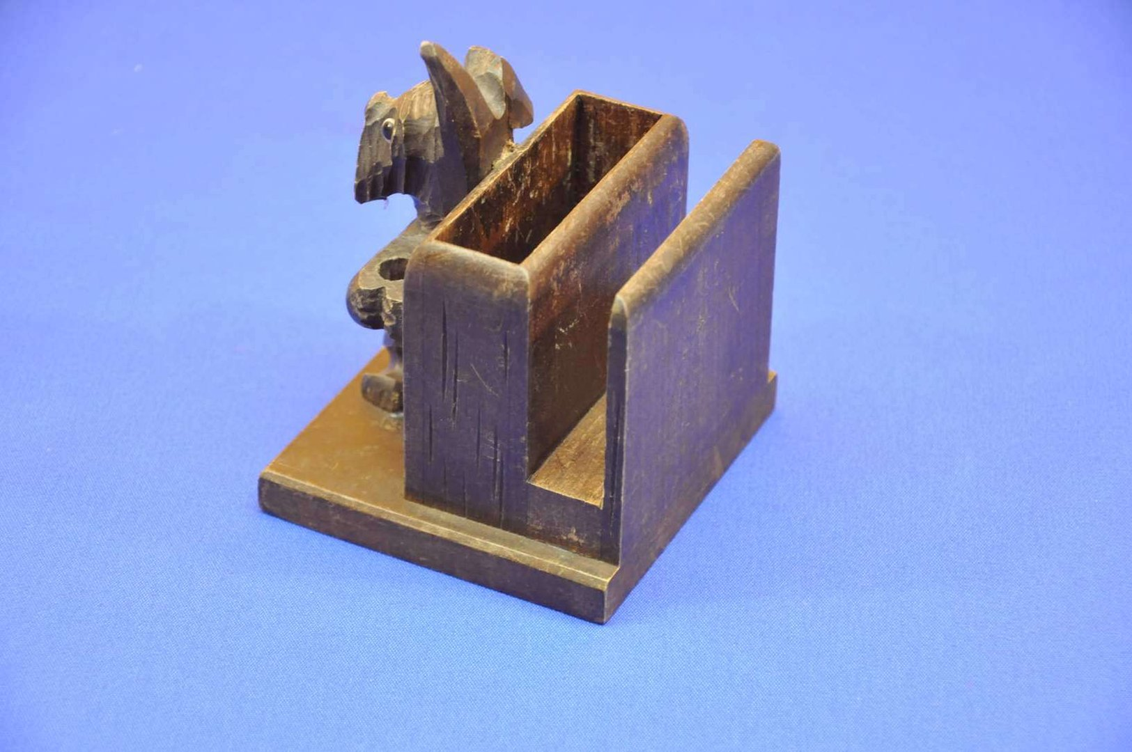 Art Deco pen holder business card holder made of wood - KuSeRa