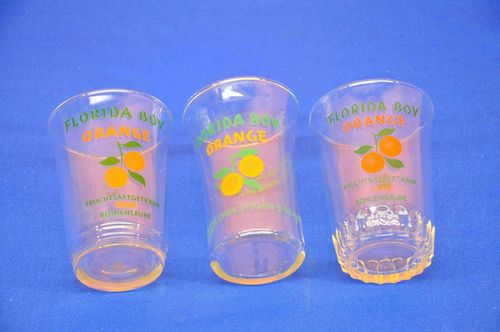 Florida Boy Orange 3 different vintage glasses