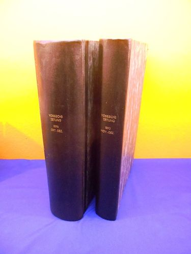 Vossische newspaper from 1893 and 1896 hardcover