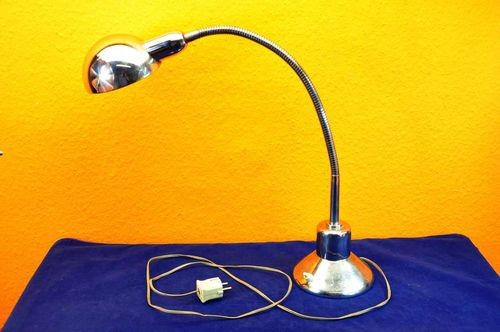 Designer desk lamp chromed Flex Neck