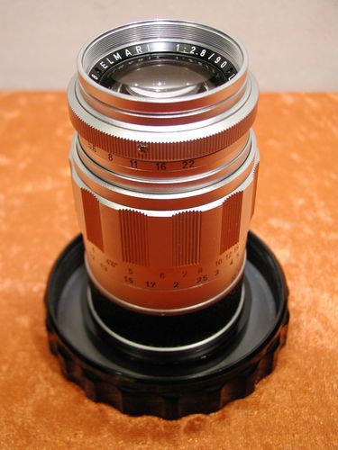 Leitz Wetzlar Elmarit 1:2,8/90mm in chrom mit Box