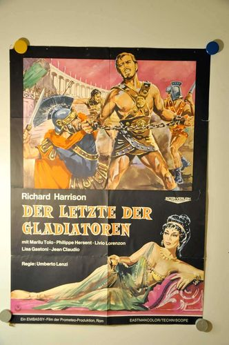 60s German Movie Poster The last of the Gladiators