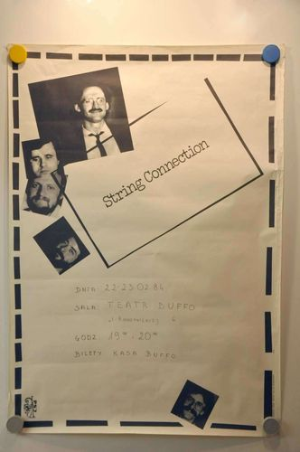 String Connection Teatr Buffo Jazz Musik Plakat 1984