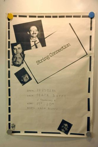 String Connection Teatr Buffo Jazz Musik Poster 1984