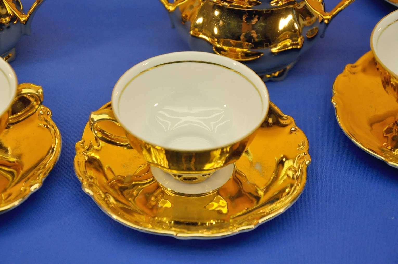 Z Co Tischenreuth Bavaria Mocha Service Gold Sale At Kusera