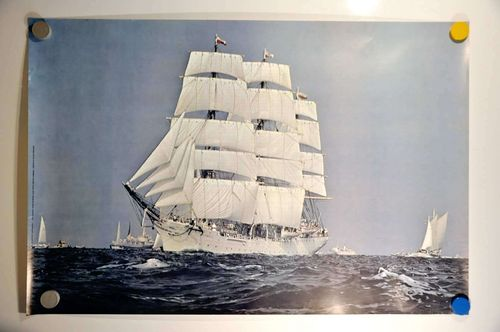 Sailing Ship Three Master Da Pomorza Poster