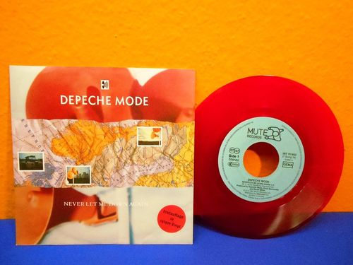 Depeche Mode Never Let Me Down again Red Single
