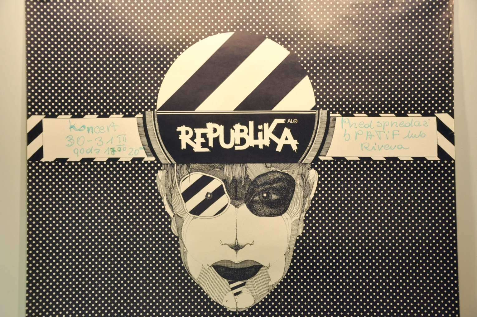 Republika Polish Poster From The 80s Rockmusic