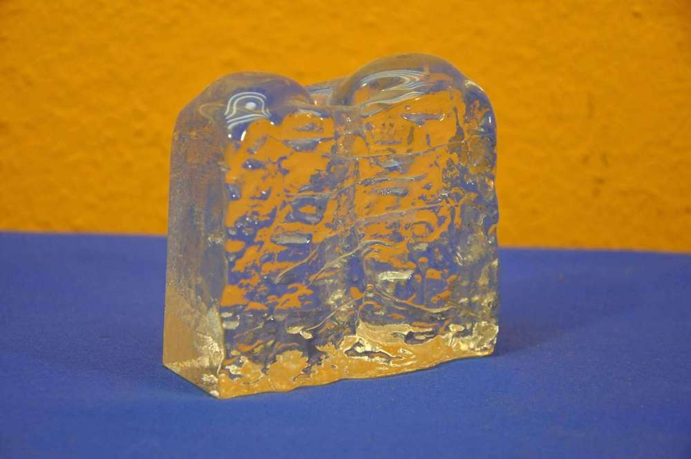 Georgshtte 70s Block Crystal Solifleur Vase At Shop Kusera