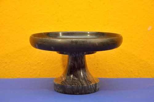 Foot bowl made of black marble Ø 20cm around 1980