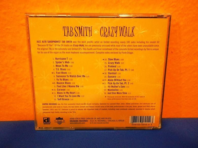 Delmark CD 2004 TAB SMITH Crazy Walk