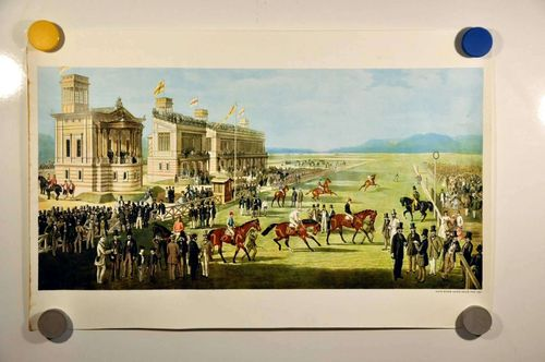 Graphic horse Racing course Baden Baden Iffezheim 1861