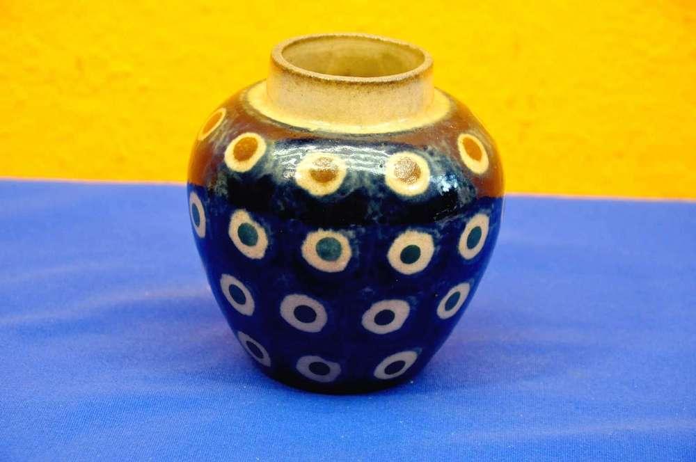 30s Pottery Bunzlau Peacocks Eyes Vase For Sale At Shop Kusera