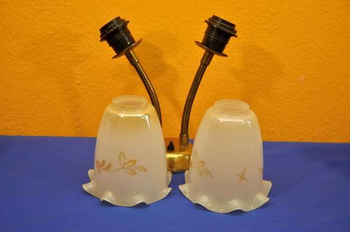 Wall lamp Flexi with 2 beautiful glass shade 1950s
