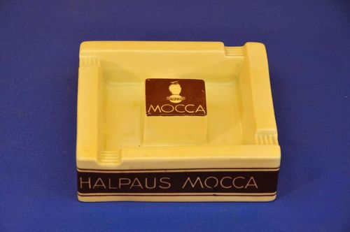 Halpaus Mocca Owl Advertising Ashtray