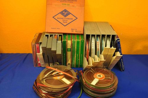 Tapes collection with and without boxes BASF etc.