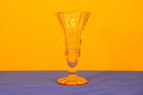 Art Deco Rosalin Glass Vase Trumpet Shape