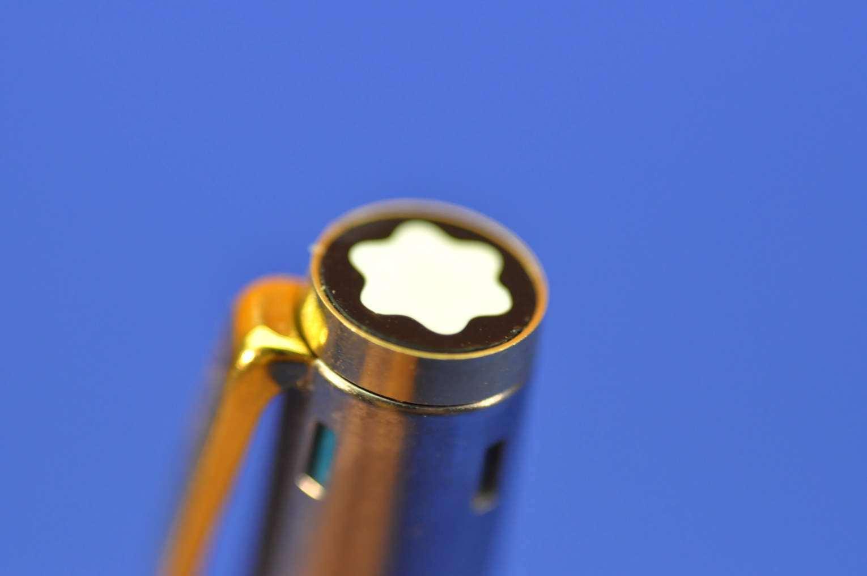 Relativ Montblanc Noblesse 4 Farben Kugelschreiber Edelstahl GT - KuSeRa NF55