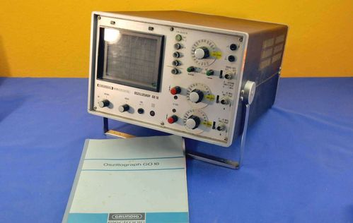 Grundig oscillograph GO10 + manual + wiring diagram