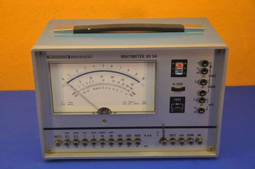 Grundig electronic Multimeter UV 5A analoge Anzeige