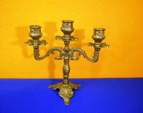 3-Armed brass candelabra Candle Holder