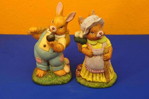 Money boxes for you and him pottery Easter Bunny