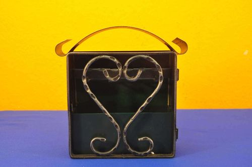 Key box with heart wrought iron switzerland