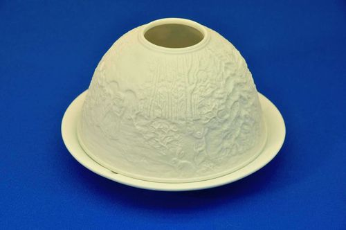 Christmas Biscuit Porcelain Light dome