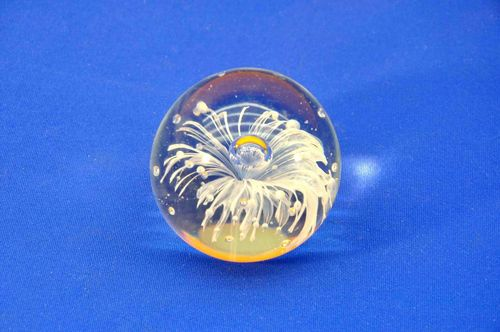 Glass paperweight with Fireworks
