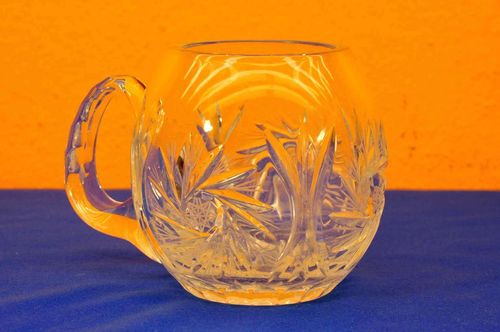 Schöler Crystal beer jug with sling star