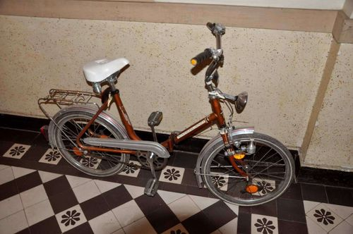 Folding bike model Vaterland gold colored 1960s