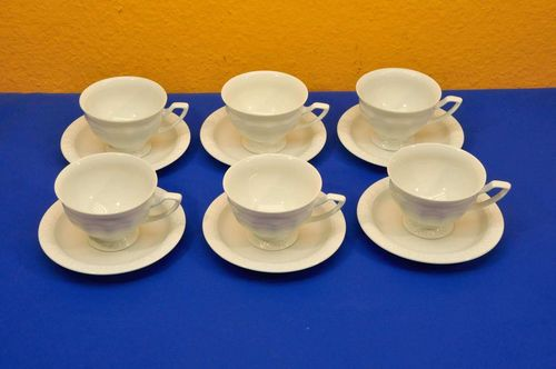 Rosenthal Maria White 6 x Coffee cup 2-parts