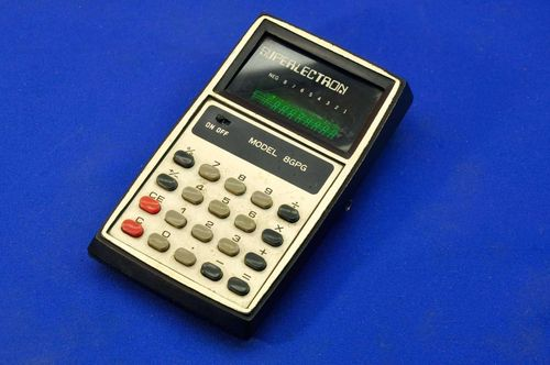 Pocket calculator Superlectron Model 8GPG Green LED 1975