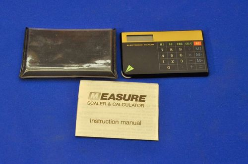 Map scaler & calculator with accessories