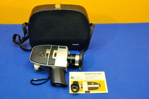 Film camera super 8 Bauer C2B super + bag + manual