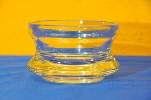 Heavy crystal ashtray clear