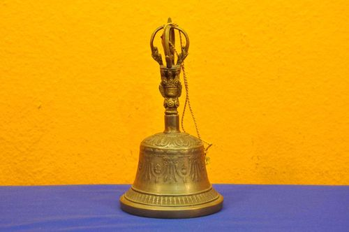 Large Tibet bell ghanta teachers bell ritual object