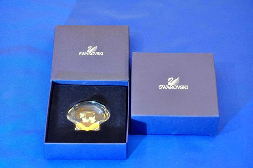 Swarovski SCS Scallop Crystal Ornament NOS